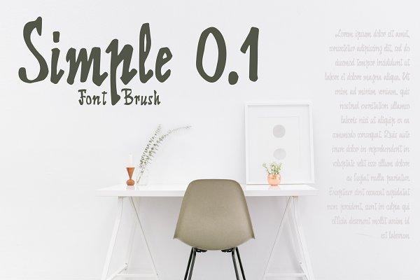 60% discount Simple 0.1 Brush Font