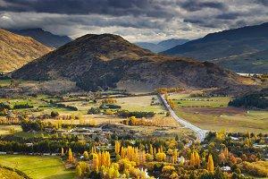 Mountain landscape, New Zealand