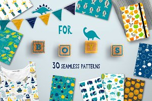 for BOYS Seamless Patterns