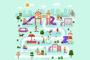Winter on the Kids Playground Map