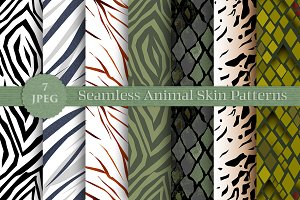 SALE ANIMAL SKIN seamless patterns