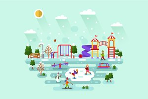 Playground in Wintertime