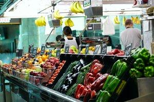 Fruits market La Boqueria Barcelona.