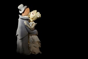 Wedding cake figurines kis.
