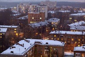 Winter cityscape.