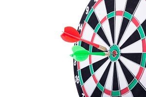 Right on target concept using dart