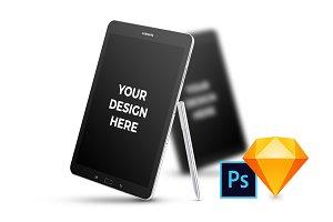 14x Samsung Galaxy Tab S3 Mockups