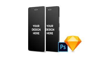 14x Microsoft Lumia 950 Mockups