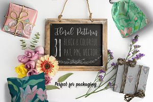 31 Floral Patterns Pack