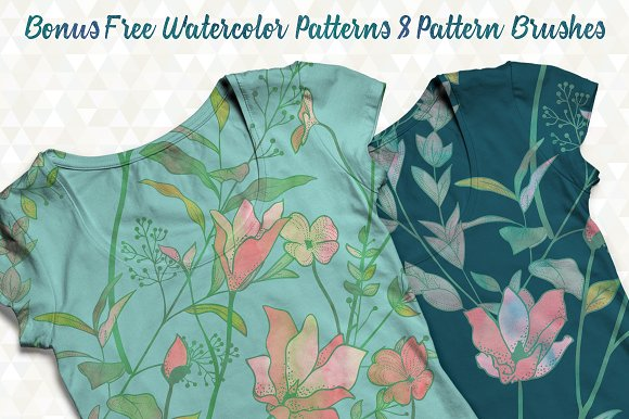 31 Floral Patterns Pack Graphic Patterns Creative Market