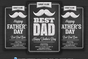 Fathers Day Chalk Flyer