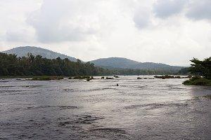 Landscape in India: river