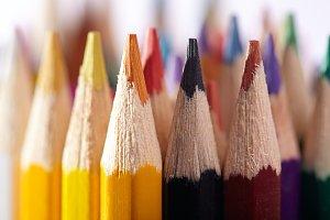 Pencils. Macro. Artist's stuff.