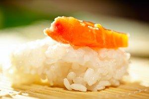 Making sushi.