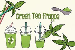 Green Tea Frappe Illustrations