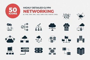 Glyph Icons Networking Set