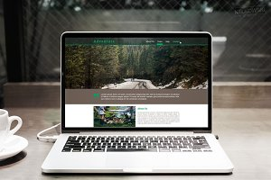 Adventure Scroll Page PSD Template