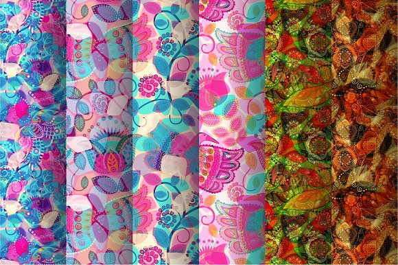 6 Colorful Bright Patterns
