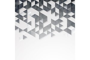 Abstract geometric background with triangles.