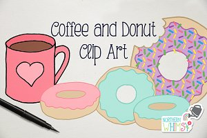 Coffee and a Donut Illustrations