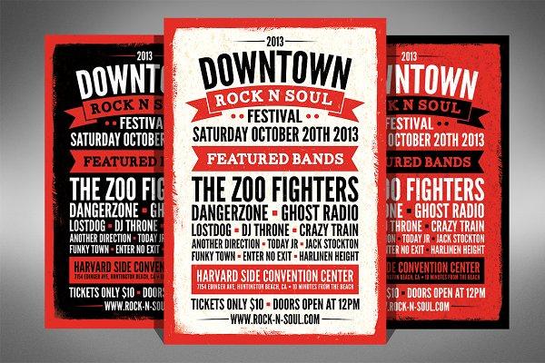 Music Festival Flyer - 2 Sizes!