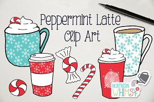 Christmas Coffee Clip Art