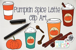 Fall Clip Art - Pumpkin Spice Latte