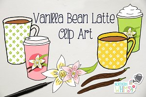 Vanilla Bean Latte - Coffee Clipart