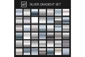 Silver metallic gradient set