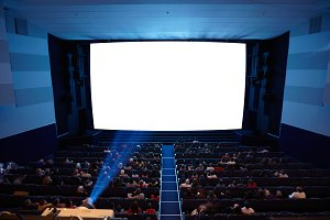 Cinema auditorium with light