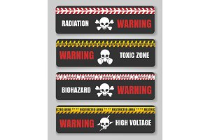Warning tape with skulls