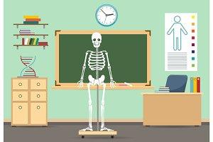 Anatomy classroom interior