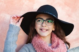 Pretty child with hat