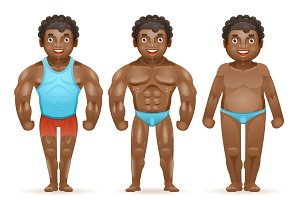 afroamerican bodybuilder