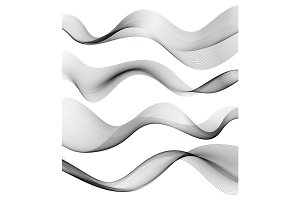 Set of transparent smoke wave