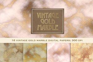 Vintage gold marble