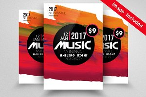 Jazz Music Flyer Template