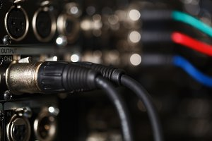 Audio XLR cables pro recorder.