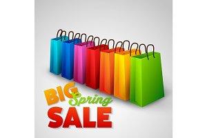 Big spring sale poster
