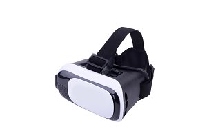 Virtual reality goggles isolated