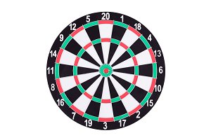 Darts Board isolated on white