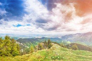 Panorama view mountain
