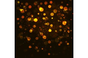 Vectorgold  bokeh abstraction background.