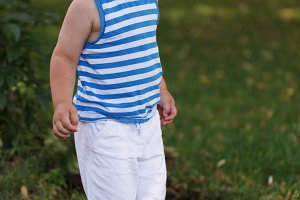 Portrait smiling three year-old boy