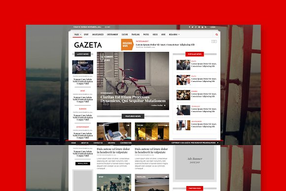 Gazeta 1 Magazine HTML Template