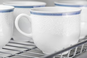 Clean white cups