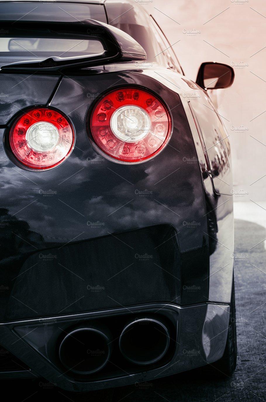 Sports Car Back Lights Transportation Photos Creative Market