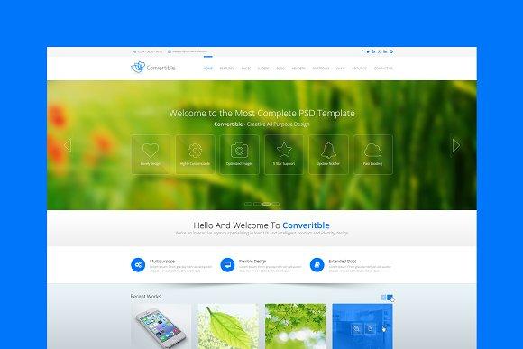 Convertible Business HTML Template