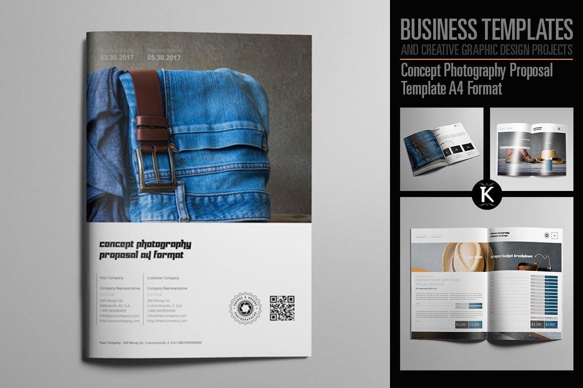 Concept Photography Proposal A4 Templates Creative Market