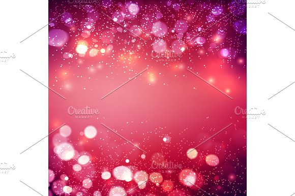 Abstract Background Festive Elegant Abstract Background With Bokeh Lights